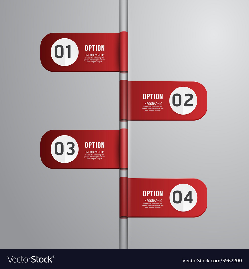 Modern design time line style infographic template vector | Price: 1 Credit (USD $1)
