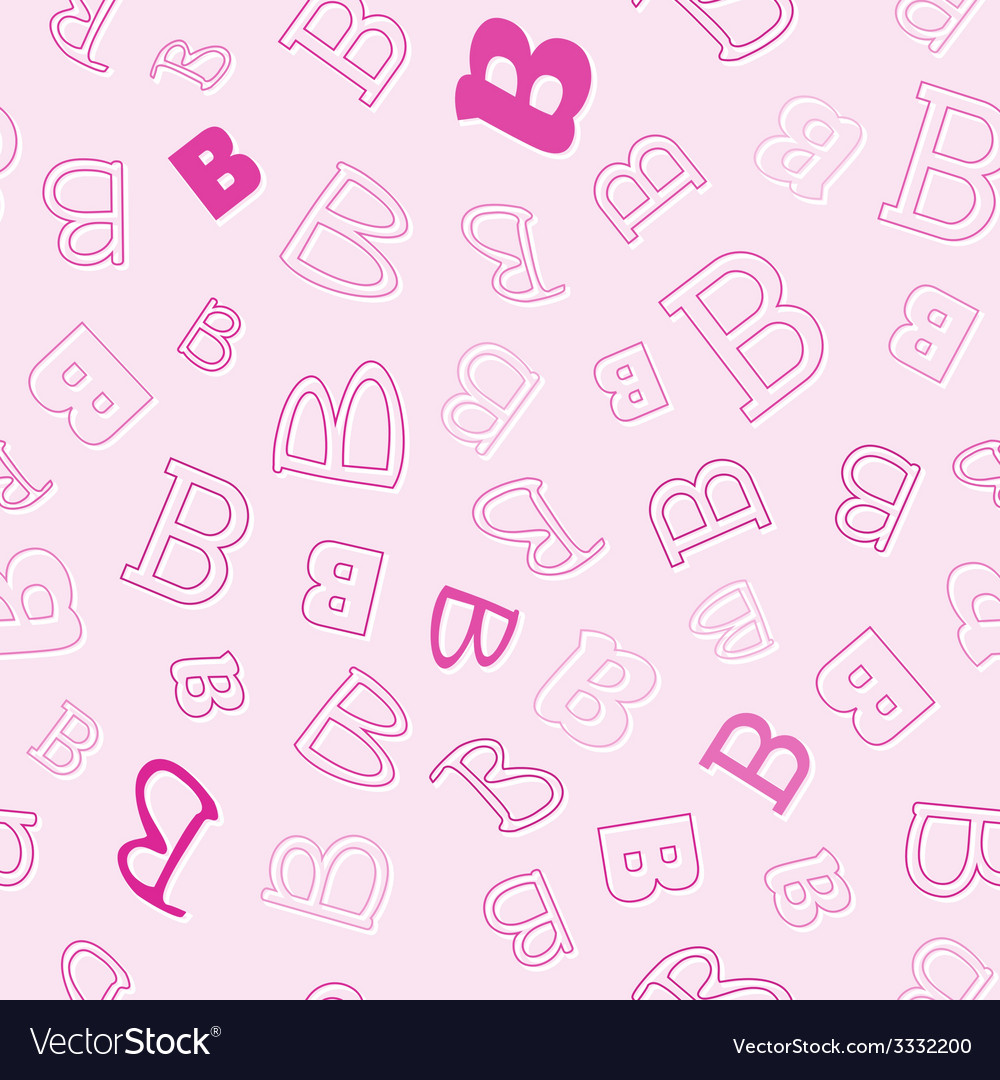 Seamless pattern with character b vector | Price: 1 Credit (USD $1)