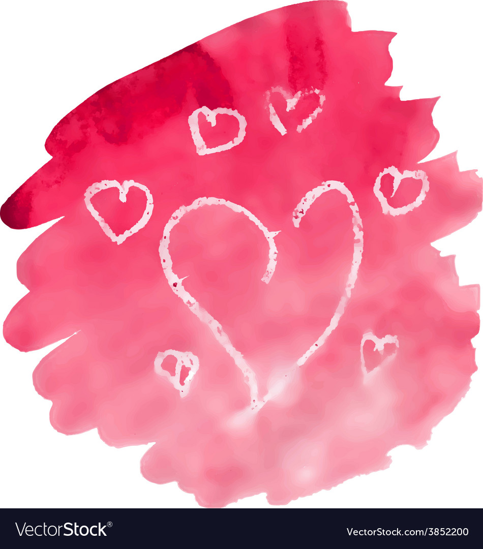 Watercolor heart vector | Price: 1 Credit (USD $1)