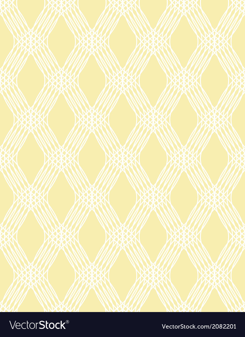 Abstract white line seamless pattern on yellow vector | Price: 1 Credit (USD $1)