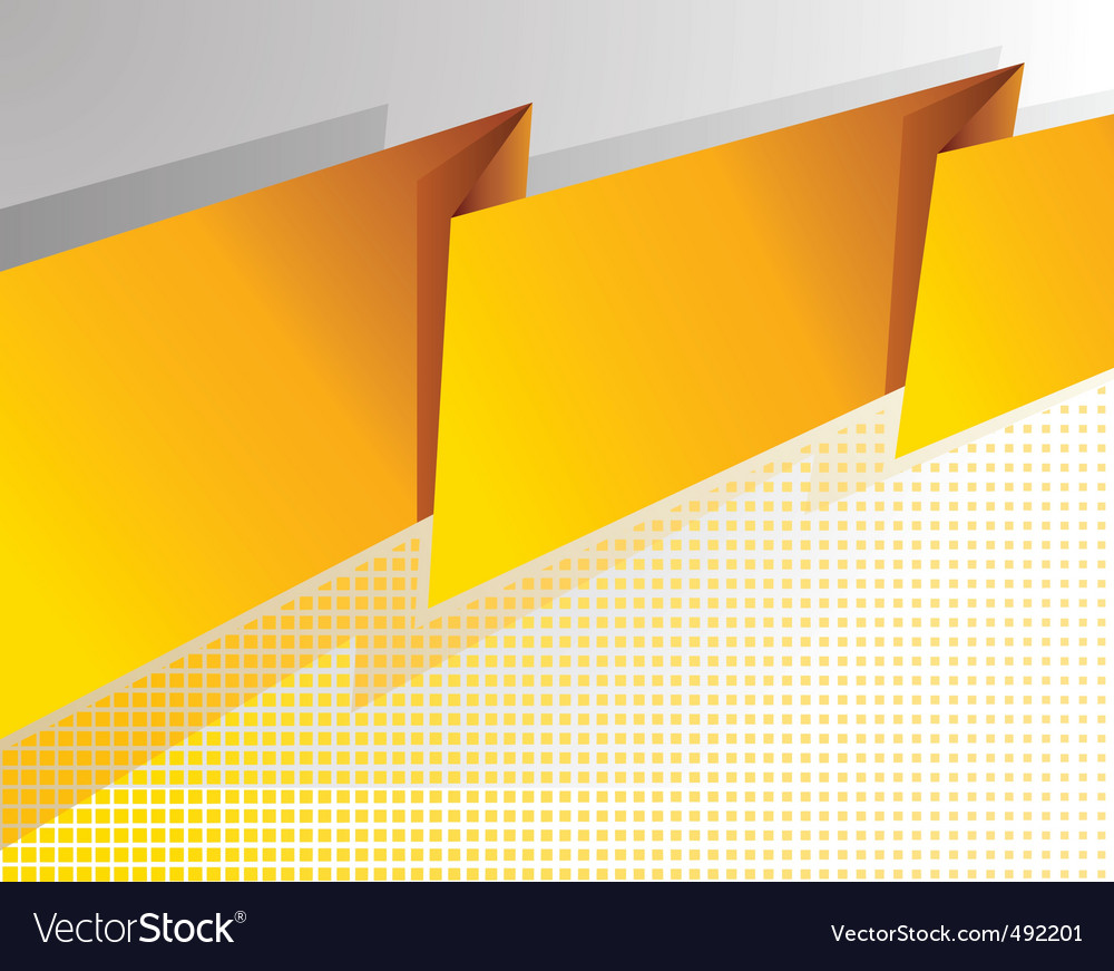 Abstract yellow banner vector | Price: 1 Credit (USD $1)