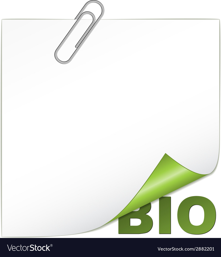 Bio corner with paperclip vector | Price: 1 Credit (USD $1)