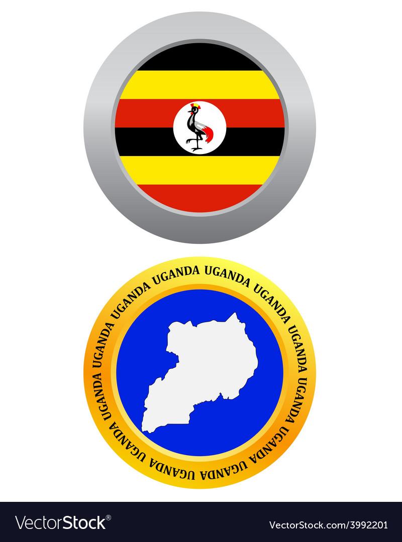 Button as a symbol map uganda vector | Price: 1 Credit (USD $1)