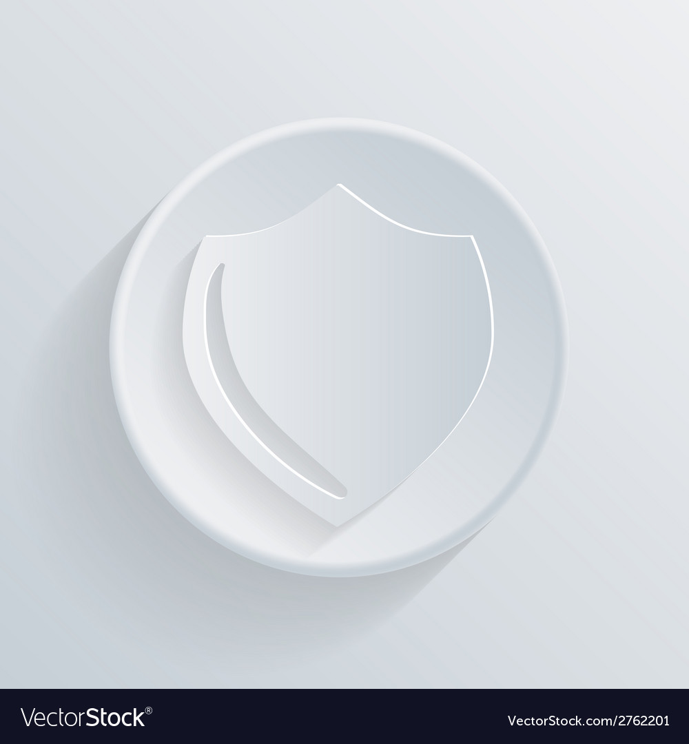 Circle icon with a shadow protection shield vector | Price: 1 Credit (USD $1)