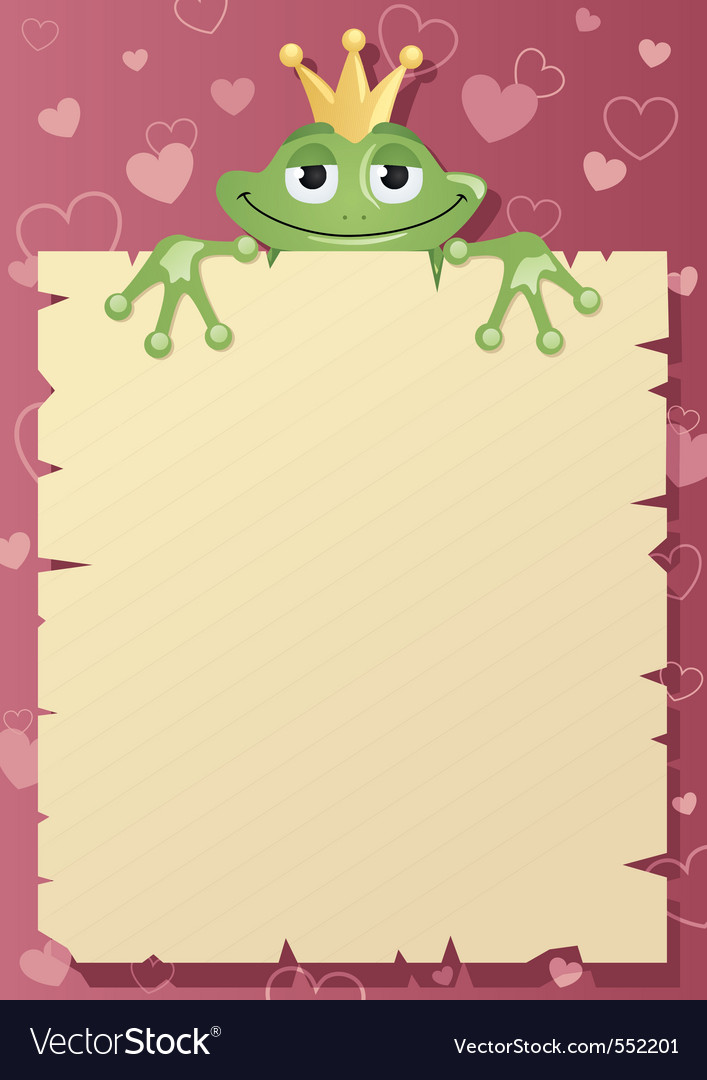 Frog prince letter vector | Price: 1 Credit (USD $1)