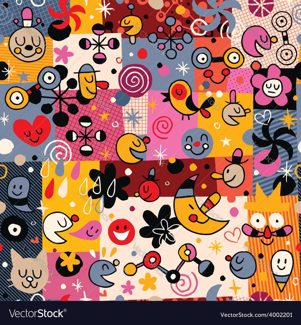 Fun cartoon pattern 5 vector   Price: 1 Credit (USD $1)