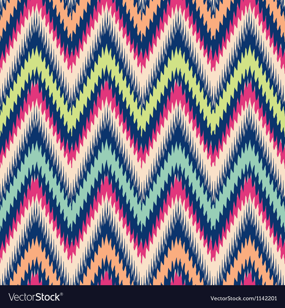 Modern tribal chevron ikat vector | Price: 1 Credit (USD $1)