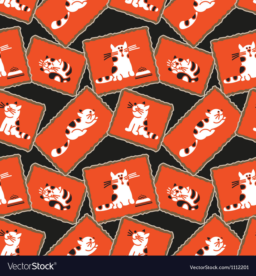 Seamless pattern kittens vector | Price: 1 Credit (USD $1)