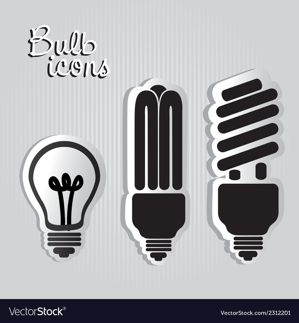 Three styles of labels bulb isolated on black back vector | Price: 1 Credit (USD $1)