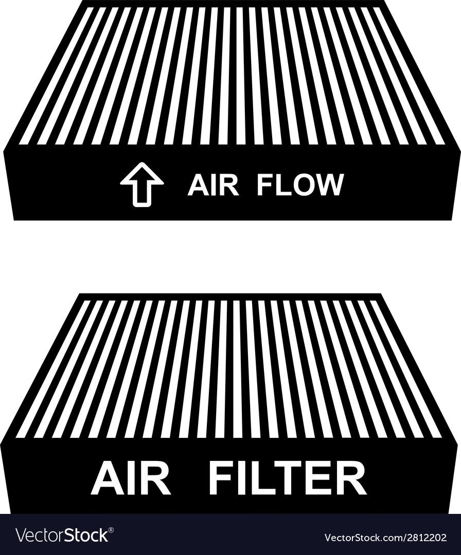 Air filter symbols vector | Price: 1 Credit (USD $1)