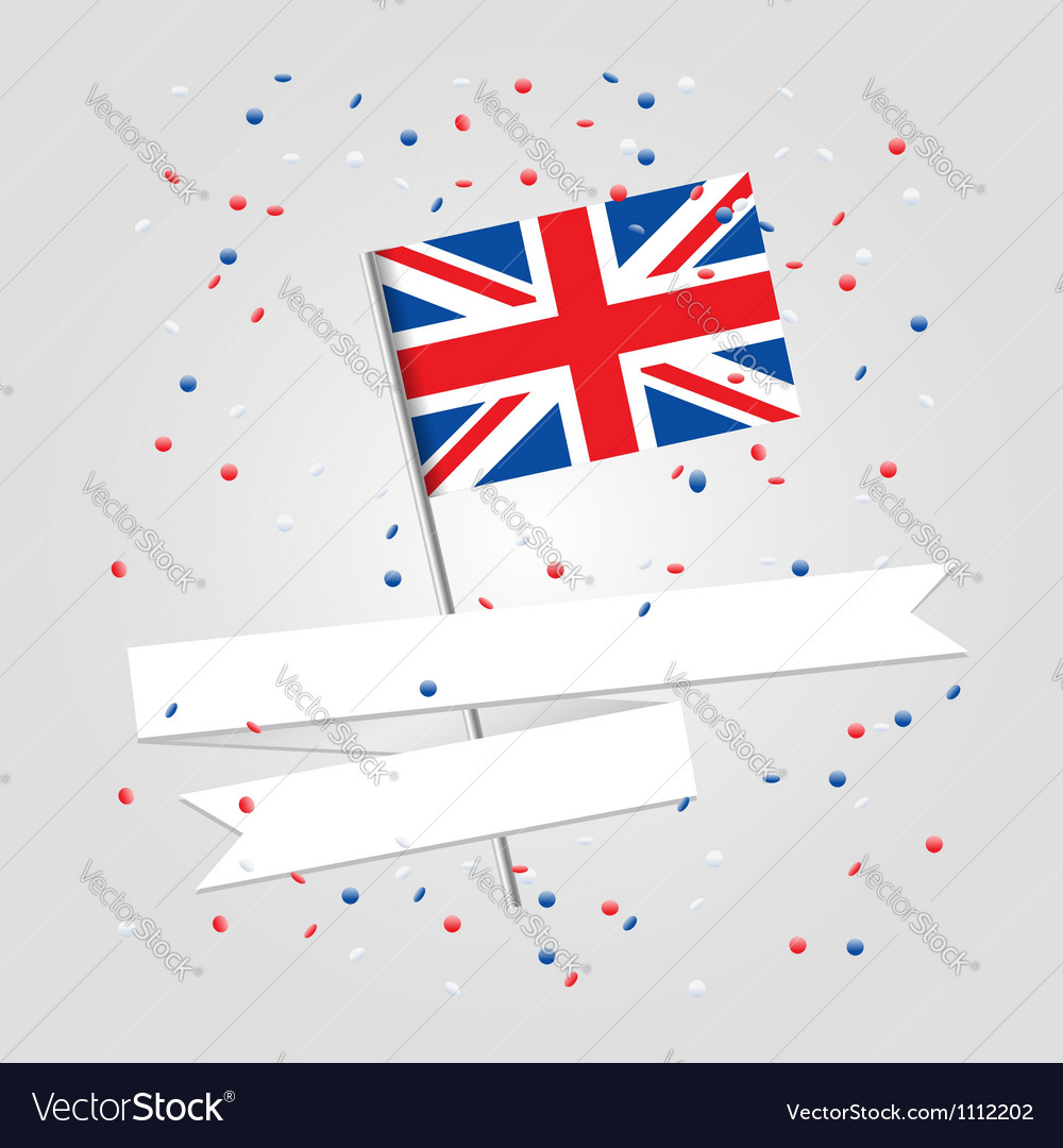 British flag over festive background vector | Price:  Credit (USD $)