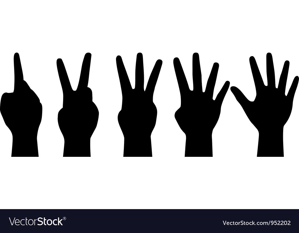 Counting hands vector | Price: 1 Credit (USD $1)