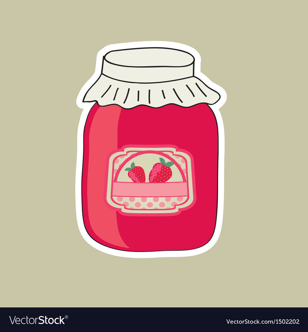 Delicious jam made from fresh natural raspberry vector | Price: 1 Credit (USD $1)