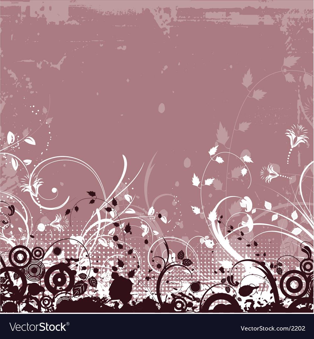 Floral grunge background vector   Price: 1 Credit (USD $1)
