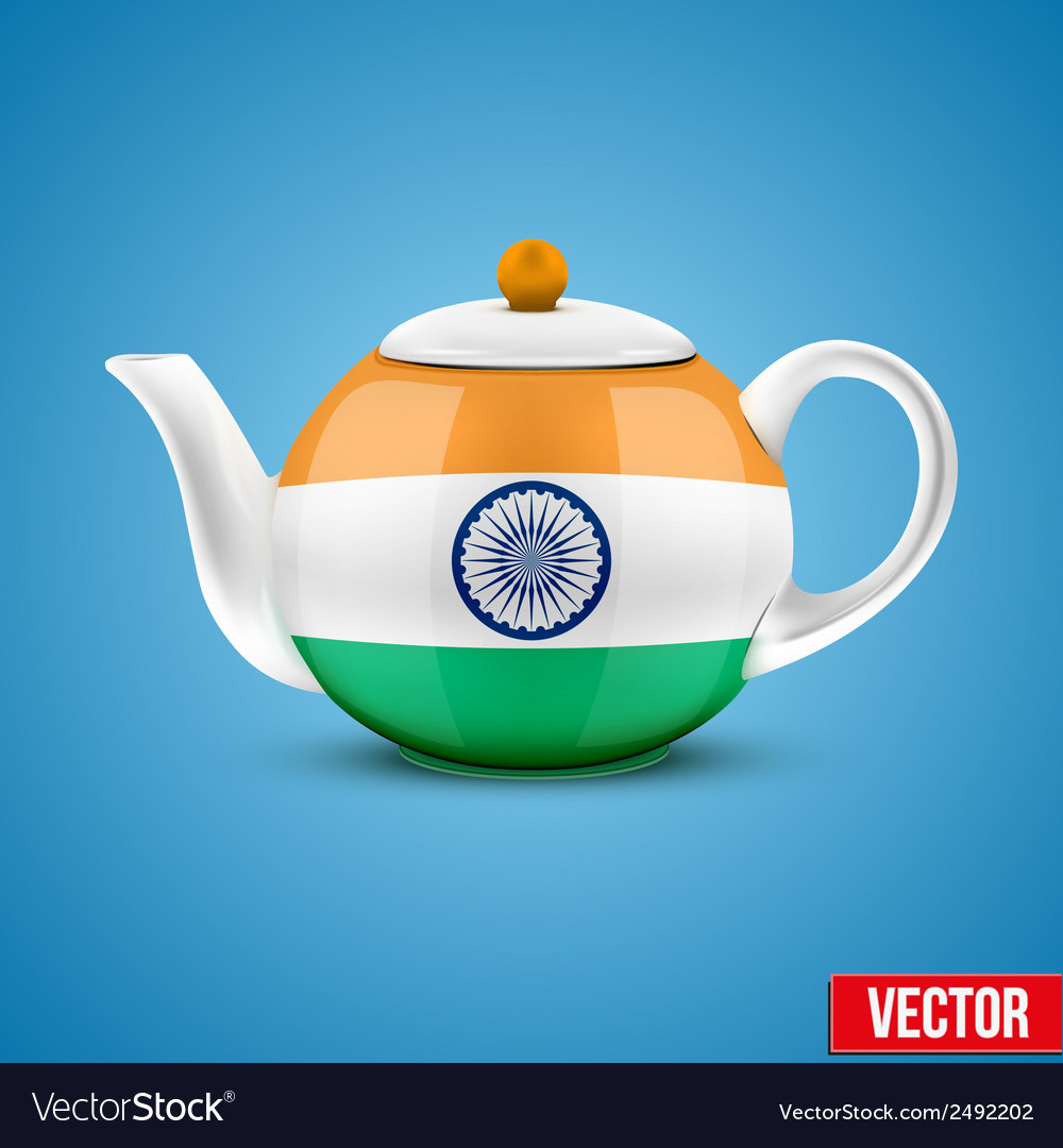 Indian ceramic teapot vector | Price: 1 Credit (USD $1)