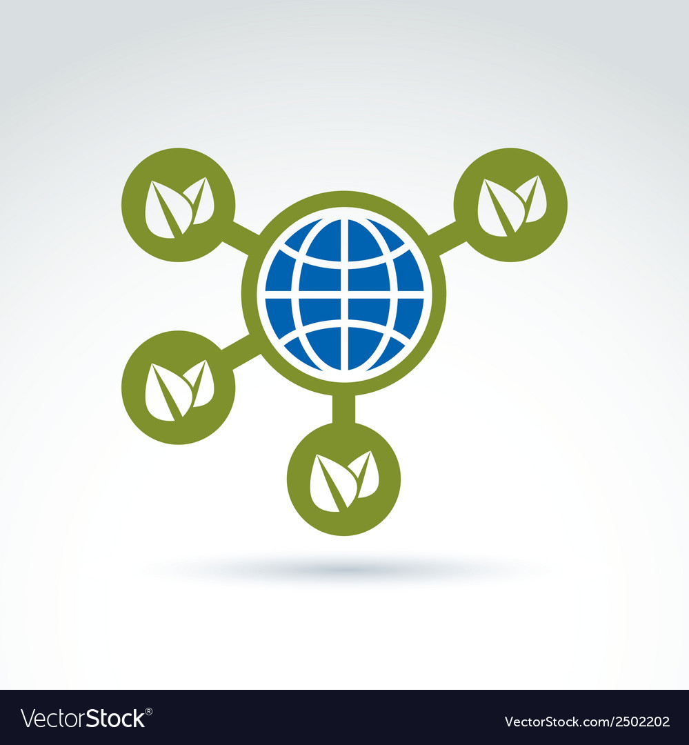Nature and earth connection symbol conceptual vector | Price: 1 Credit (USD $1)