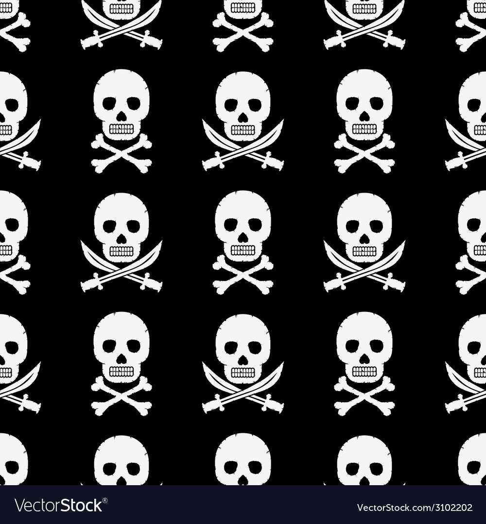 Pirate skulls pattern vector | Price: 1 Credit (USD $1)