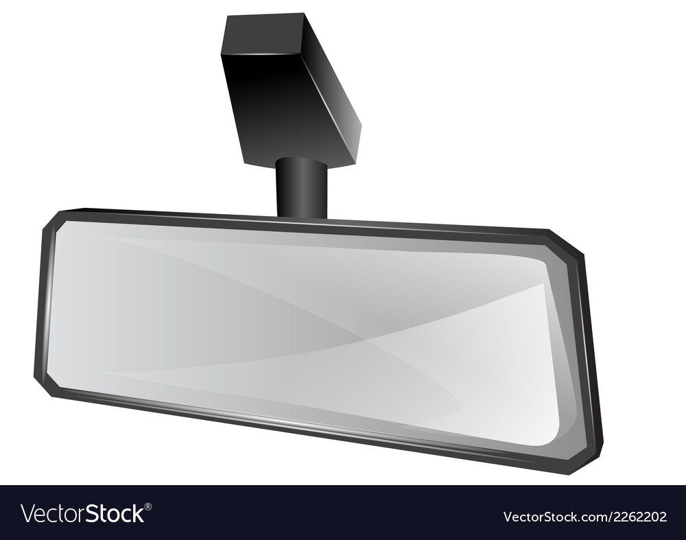 Rear viewer mirror vector | Price: 1 Credit (USD $1)