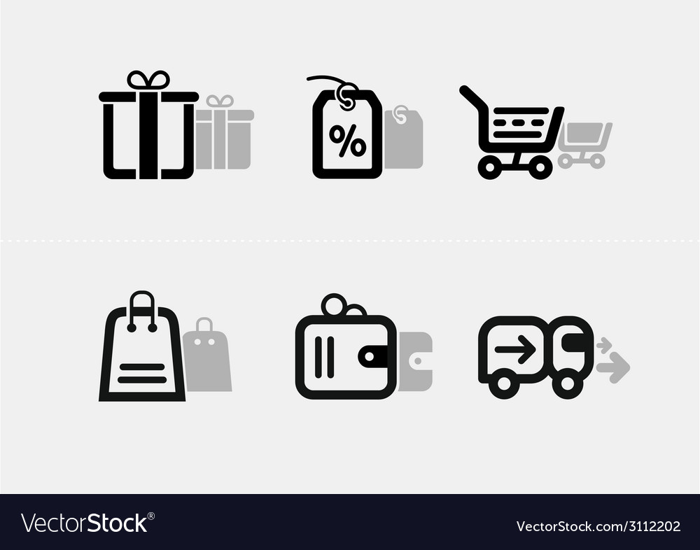 Shopping and e-commerce icon set vector | Price: 1 Credit (USD $1)