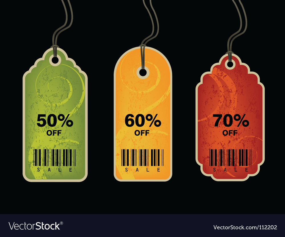 Shopping tags vector | Price: 1 Credit (USD $1)