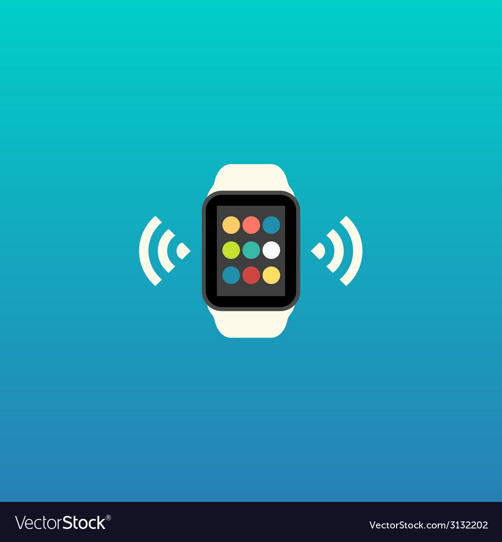 Smart watch flat design vector | Price: 1 Credit (USD $1)
