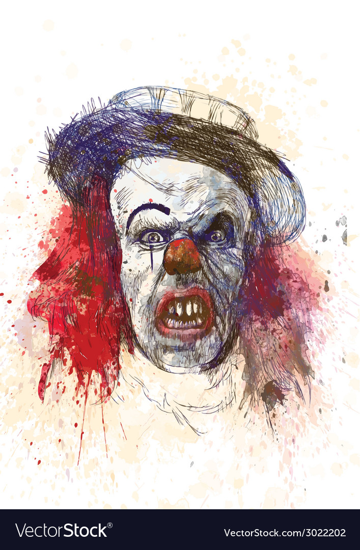 Spooky clown vector | Price: 3 Credit (USD $3)