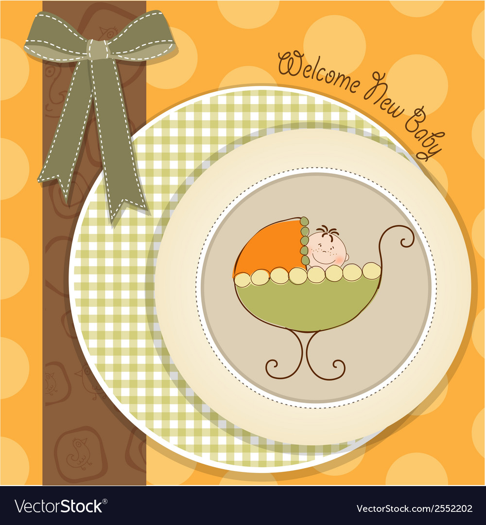 Welcome new baby vector | Price: 1 Credit (USD $1)