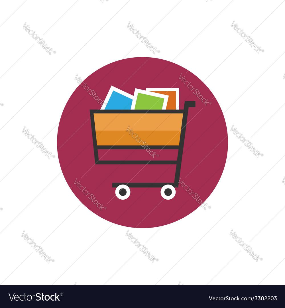 Cart icon basket icon vector | Price: 1 Credit (USD $1)