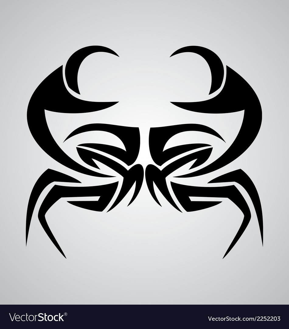 Crab tribal vector | Price: 1 Credit (USD $1)
