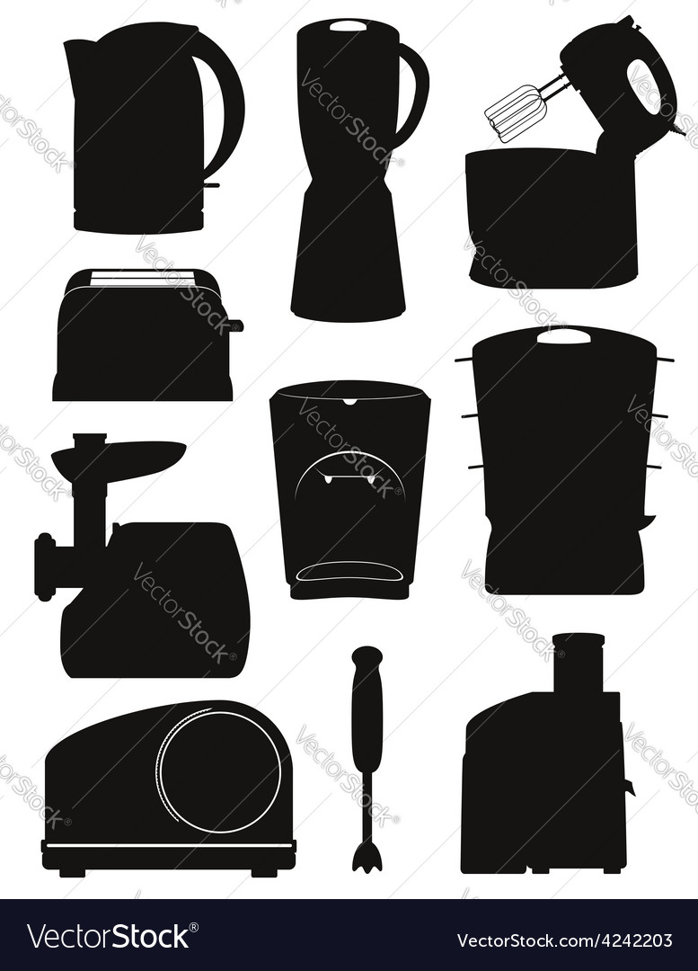 Electrical appliances for the kitchen 03 vector | Price: 1 Credit (USD $1)