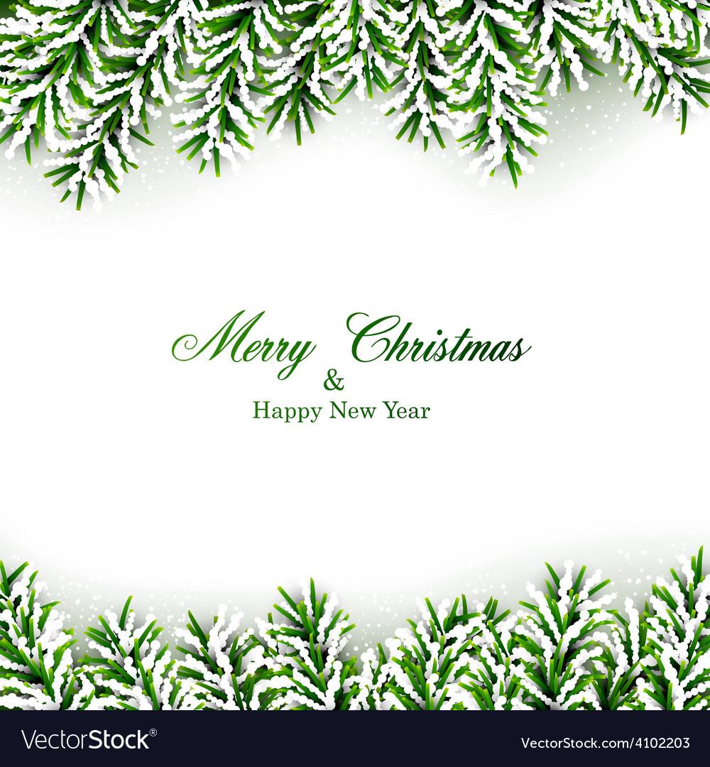Fir christmas frame vector | Price: 1 Credit (USD $1)