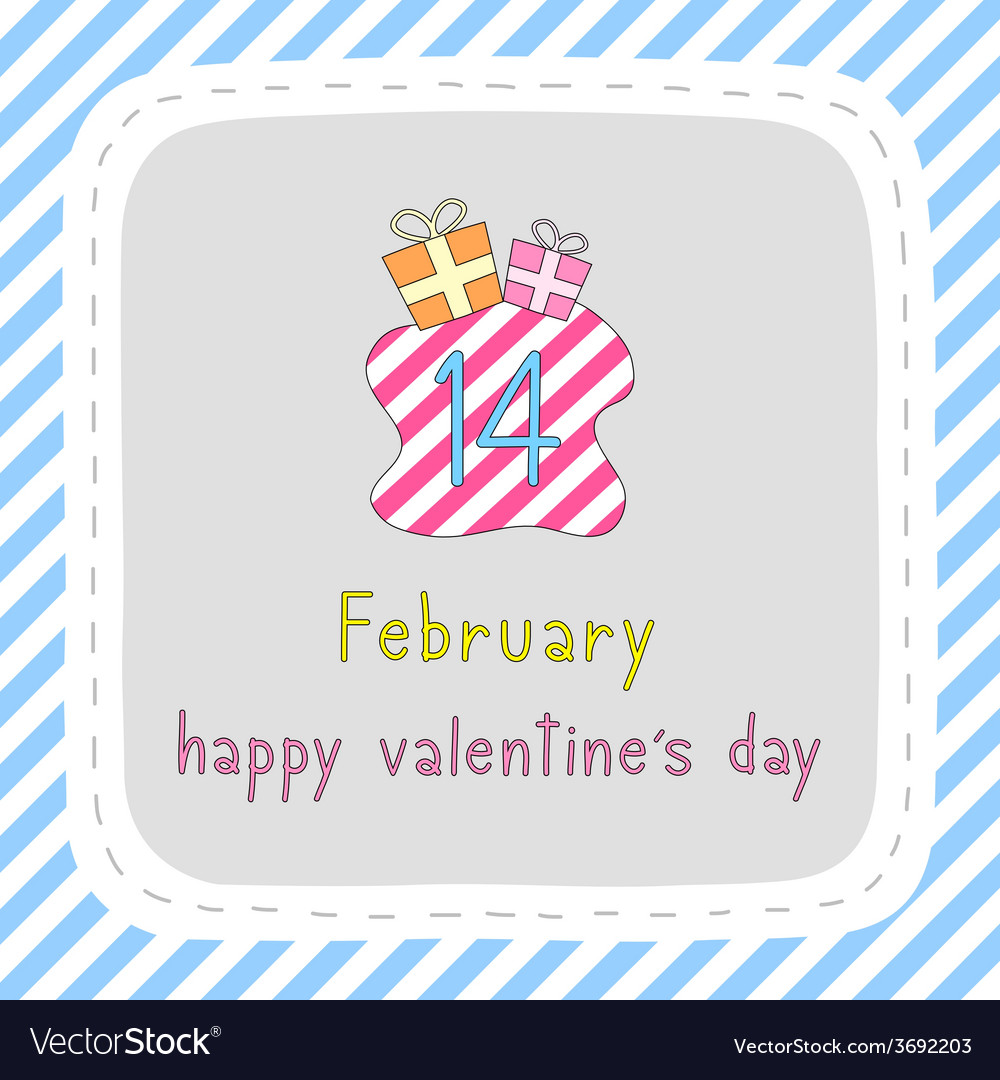 Happy valentine s day card7 vector | Price: 1 Credit (USD $1)