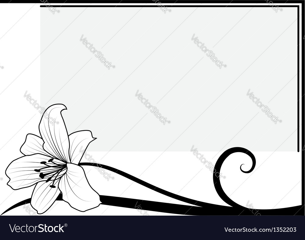 Lily vector | Price: 1 Credit (USD $1)