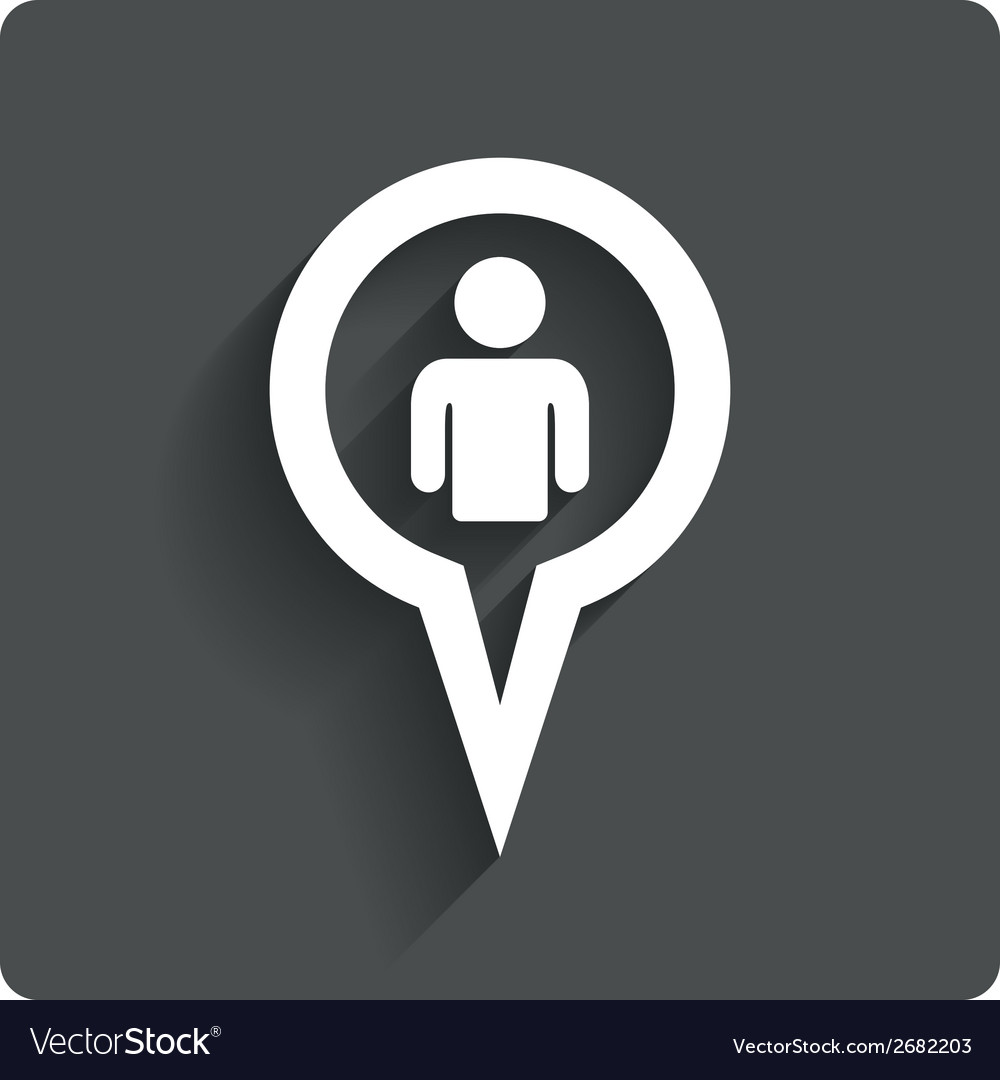 Map pointer user sign icon marker symbol vector | Price: 1 Credit (USD $1)