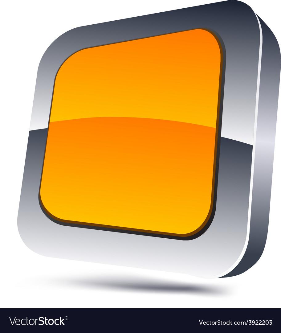 Orange square icon vector | Price: 1 Credit (USD $1)