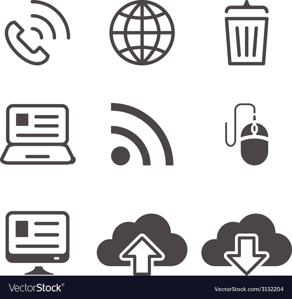 Internet network communication mobile devices vector | Price: 1 Credit (USD $1)
