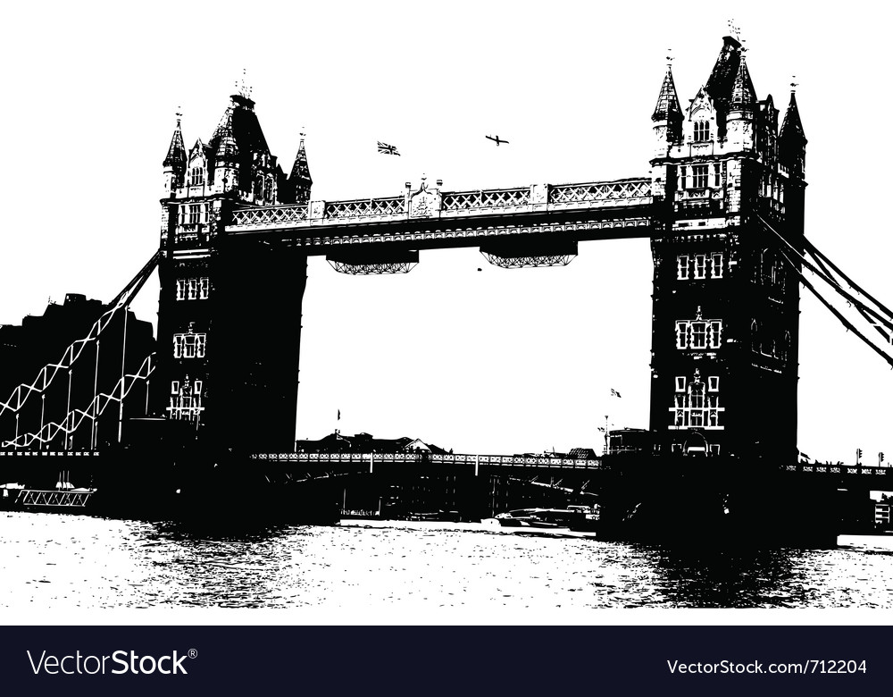 London bridge grunge vector | Price: 1 Credit (USD $1)