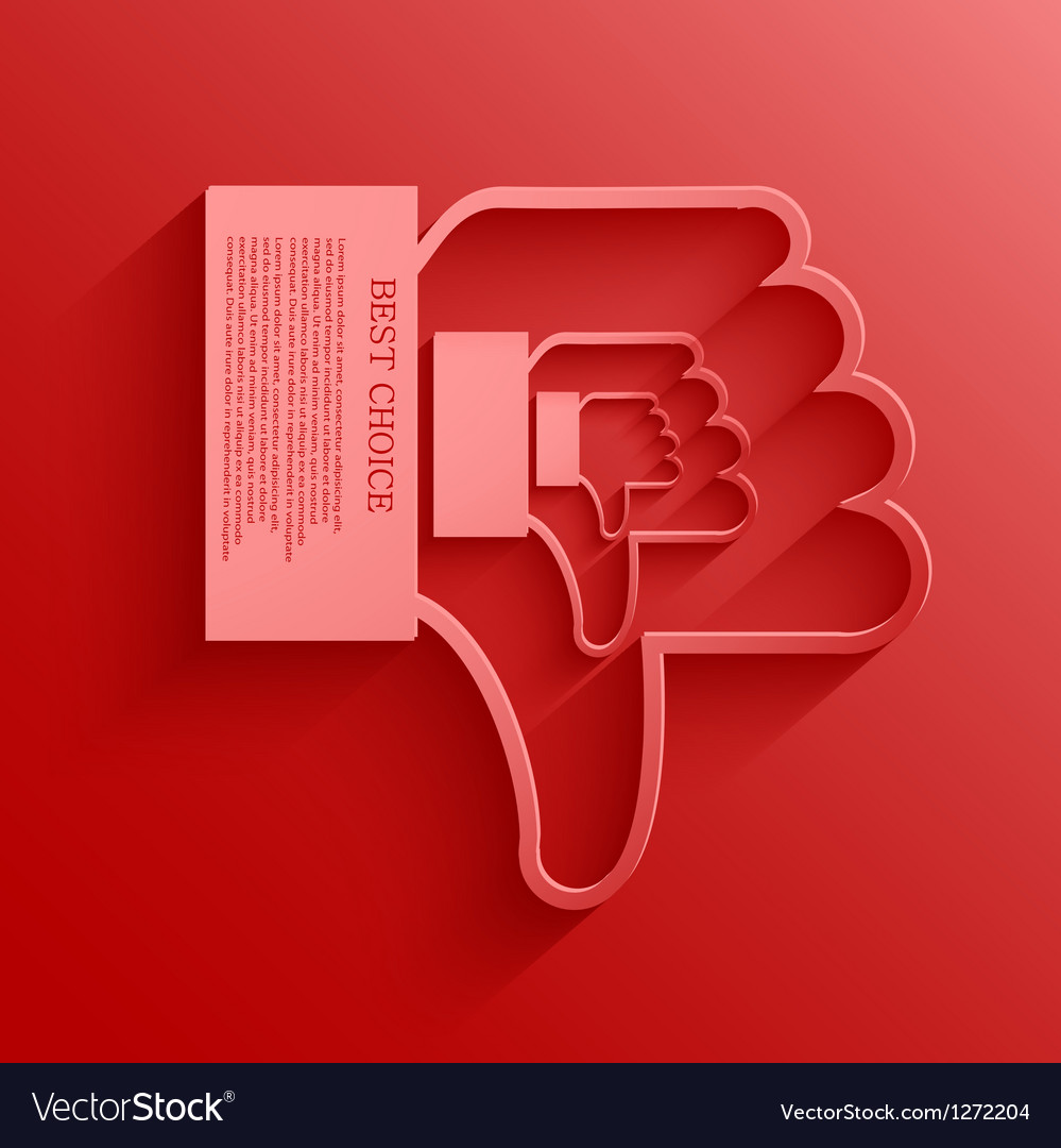Thumb down background vector | Price: 1 Credit (USD $1)