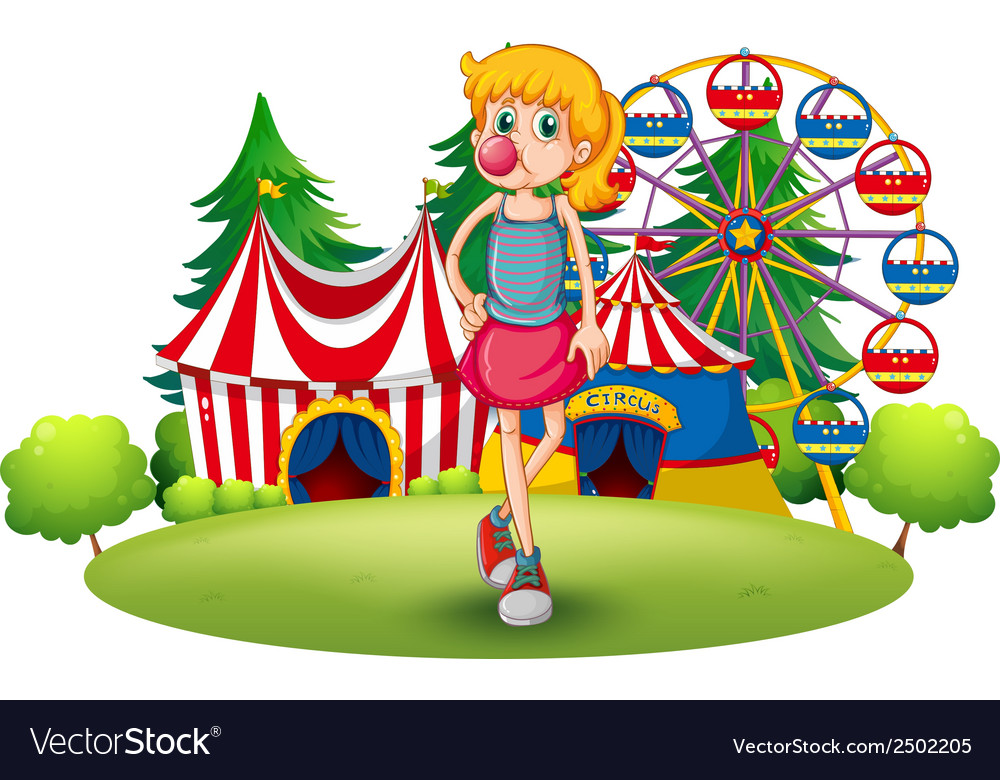 A tall young girl at the carnival vector | Price: 1 Credit (USD $1)