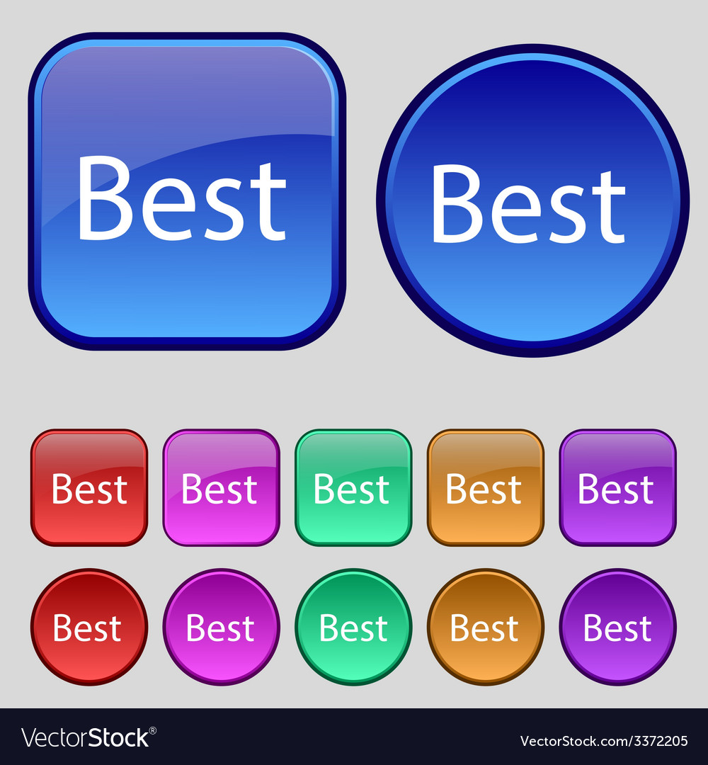 Best seller sign icon best-seller award symbol set vector | Price: 1 Credit (USD $1)