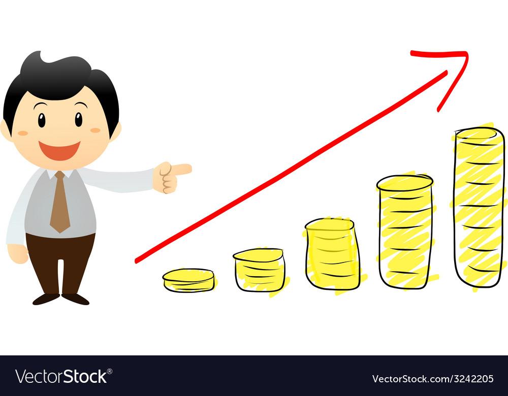 Businessman go to success vector | Price: 1 Credit (USD $1)