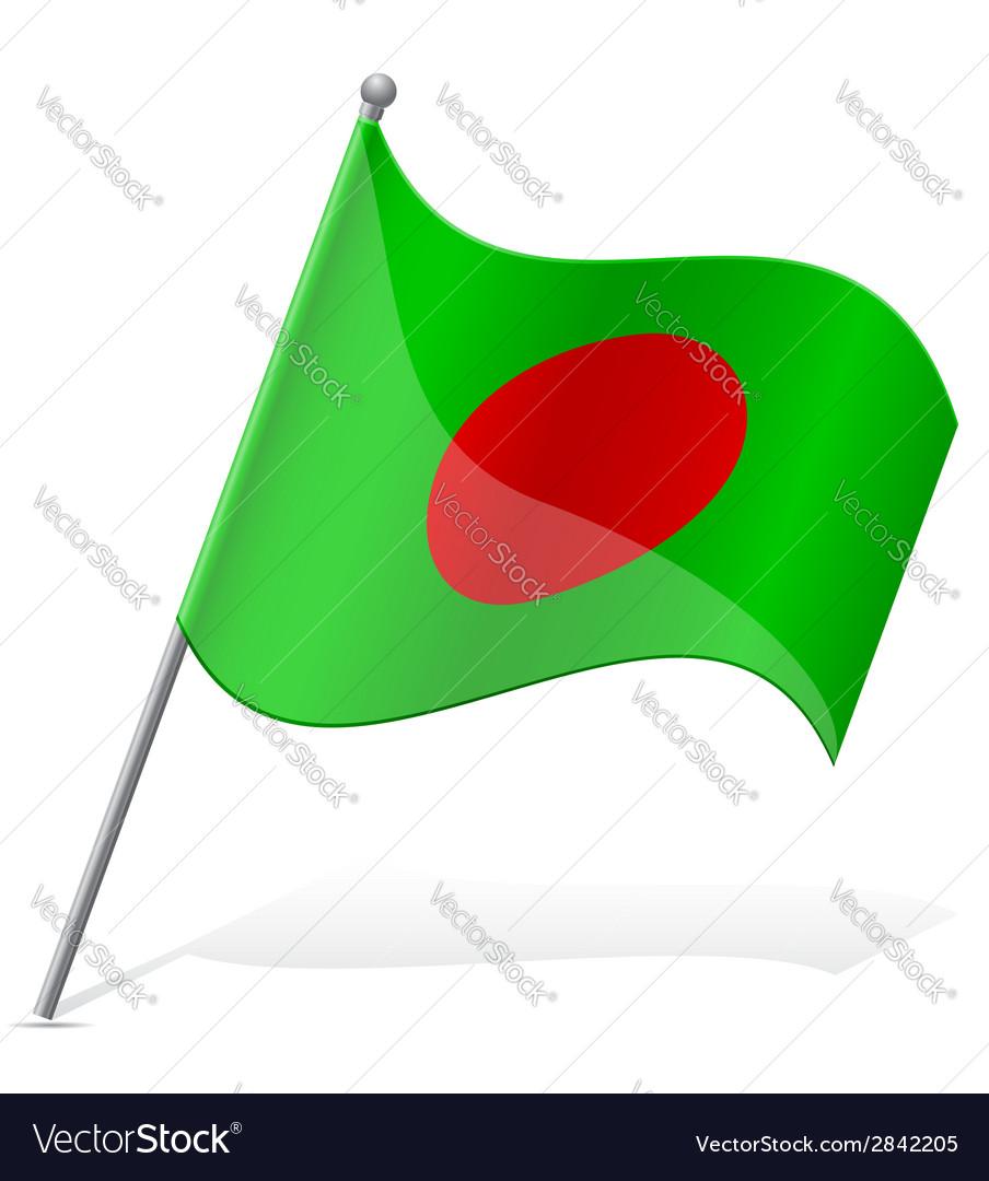 Flag of bangladesh vector | Price: 1 Credit (USD $1)