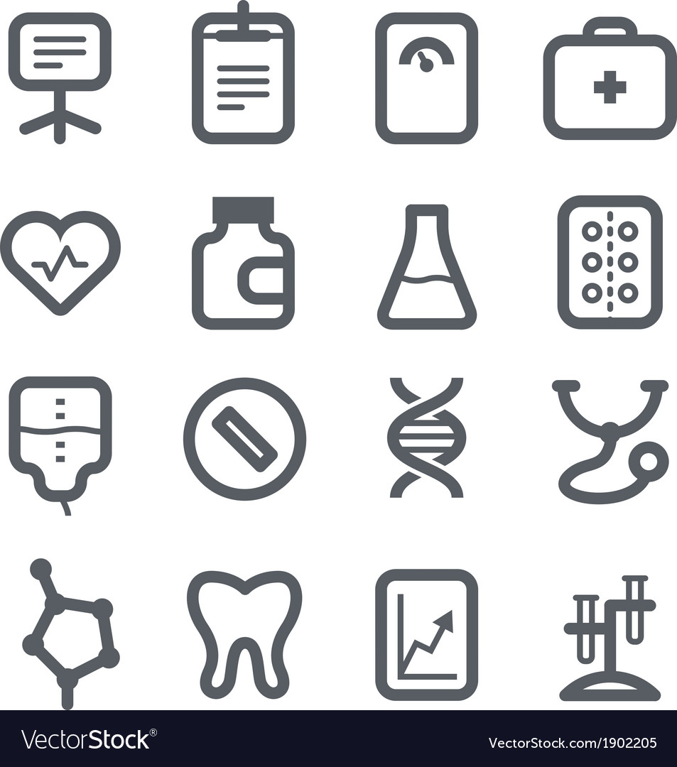 Healthcare icons set vector | Price: 1 Credit (USD $1)