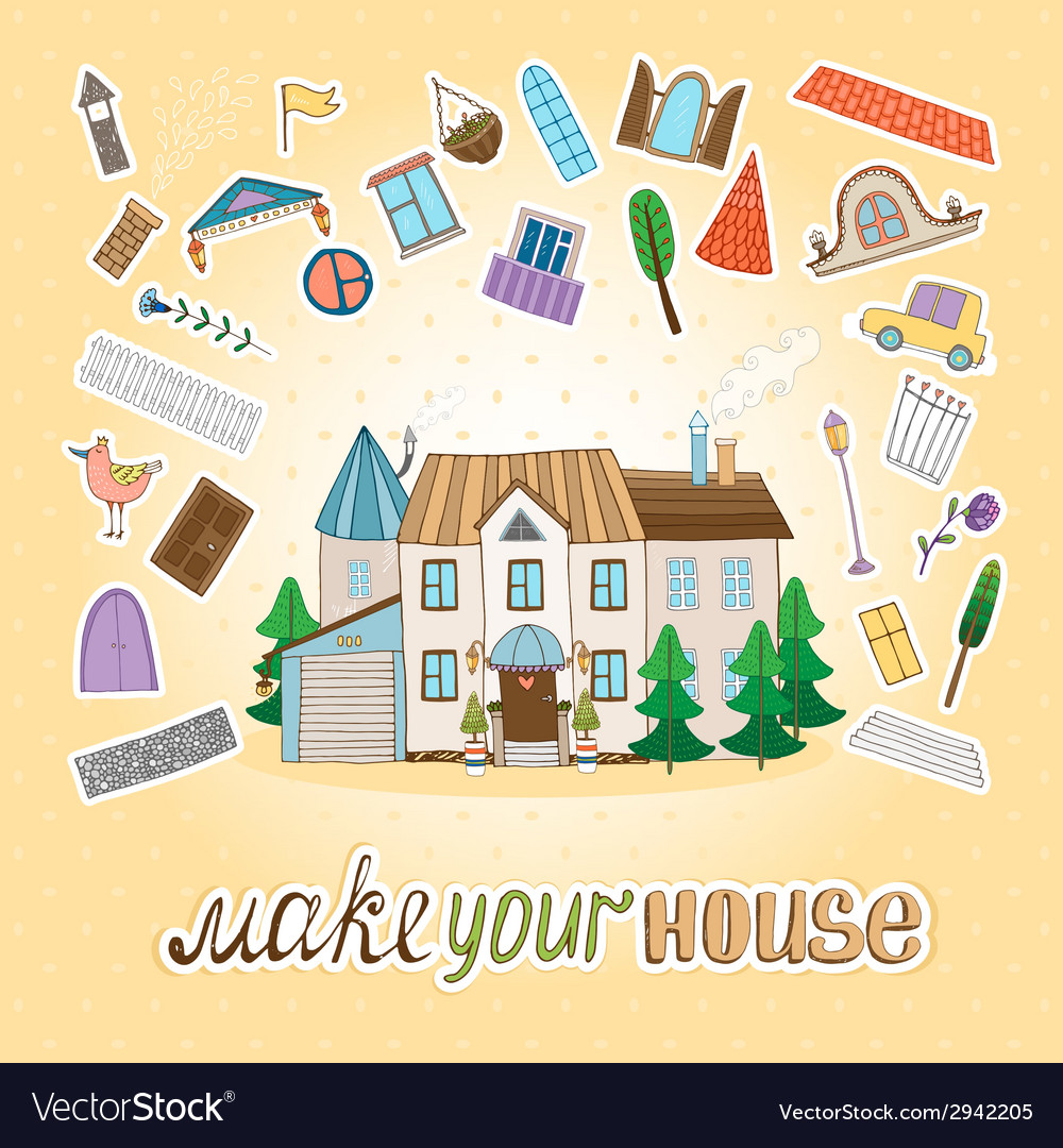 Make your house vector | Price: 1 Credit (USD $1)