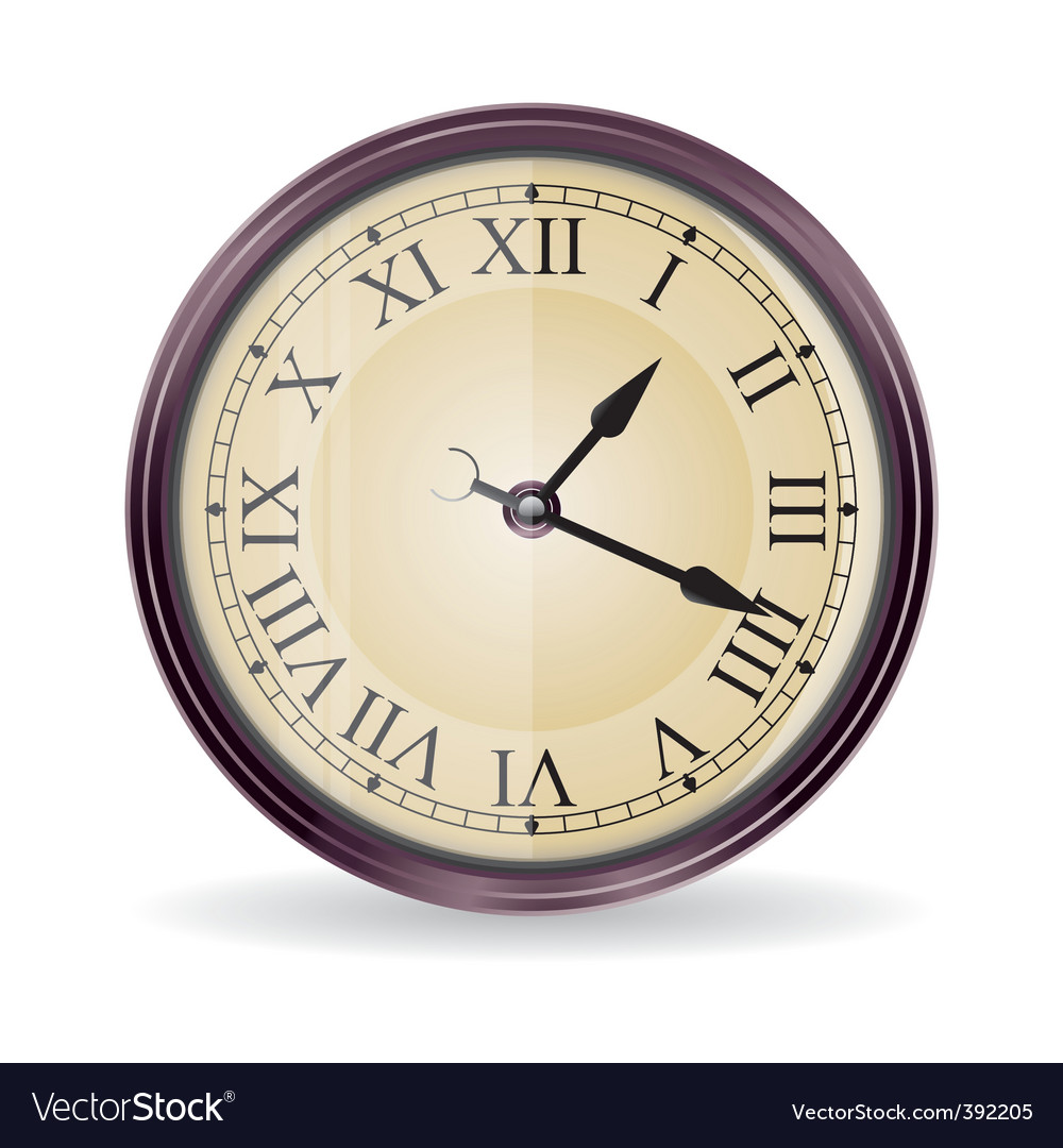 Vintage wall clock vector | Price: 3 Credit (USD $3)