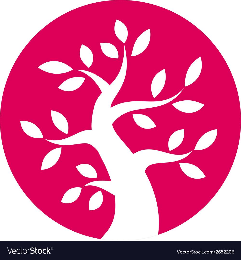 Autumn tree round icon vector | Price: 1 Credit (USD $1)