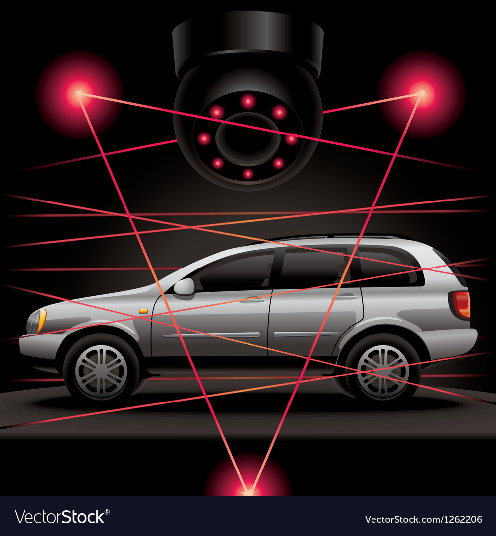 Car security vector | Price: 3 Credit (USD $3)