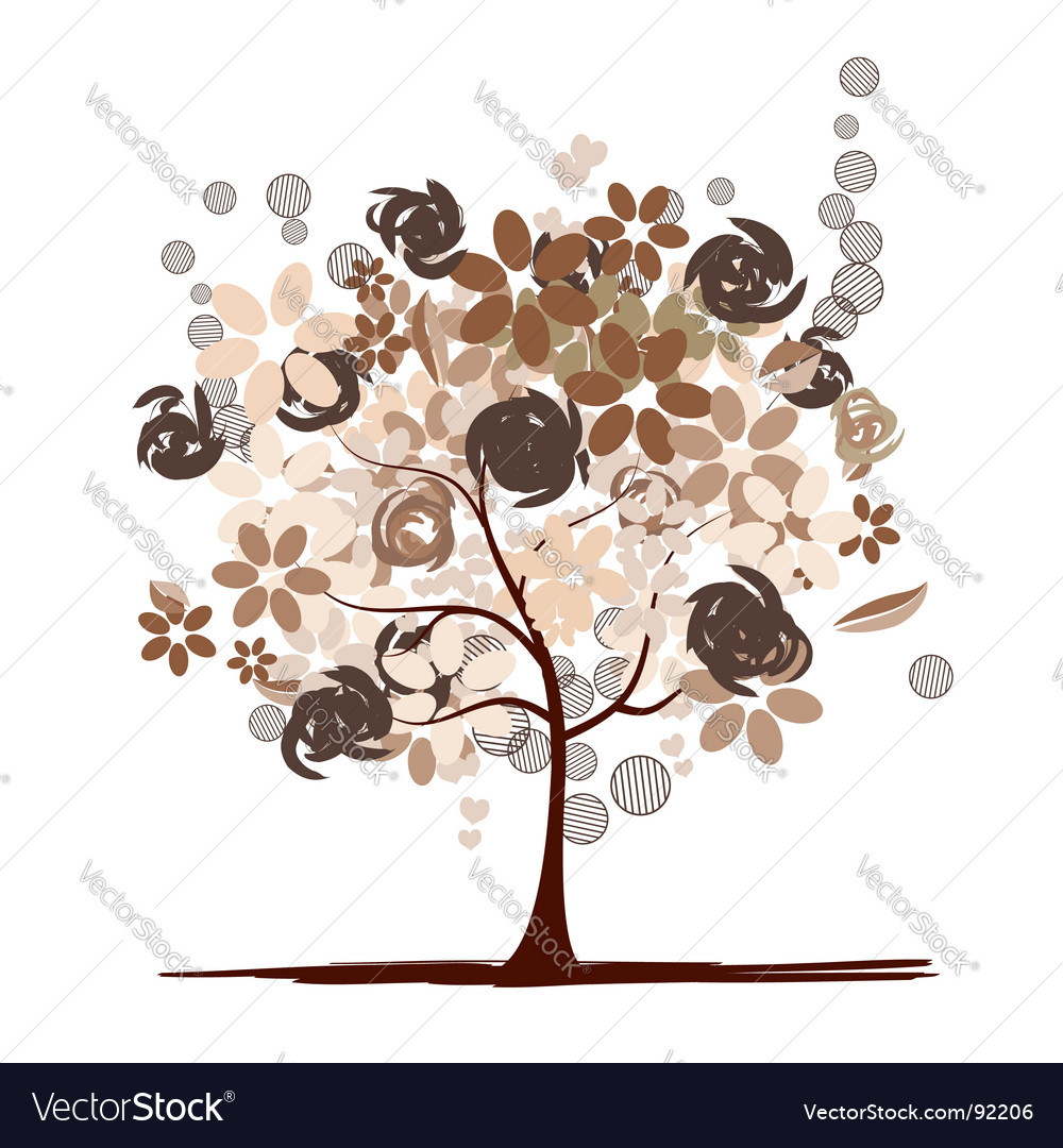 Chocolate tree beautiful vector | Price: 1 Credit (USD $1)