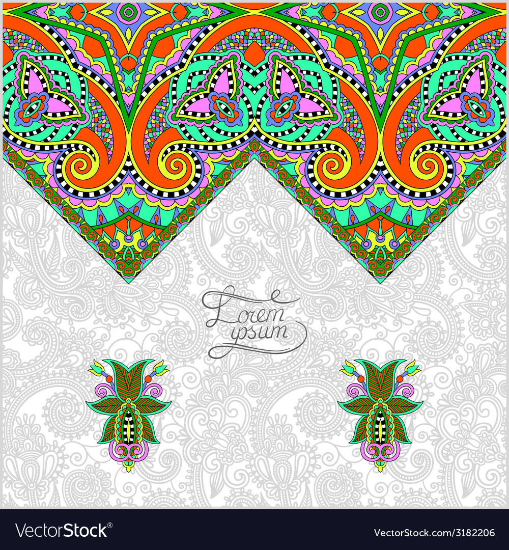 Decorative template for greeting card or wedding vector | Price: 1 Credit (USD $1)