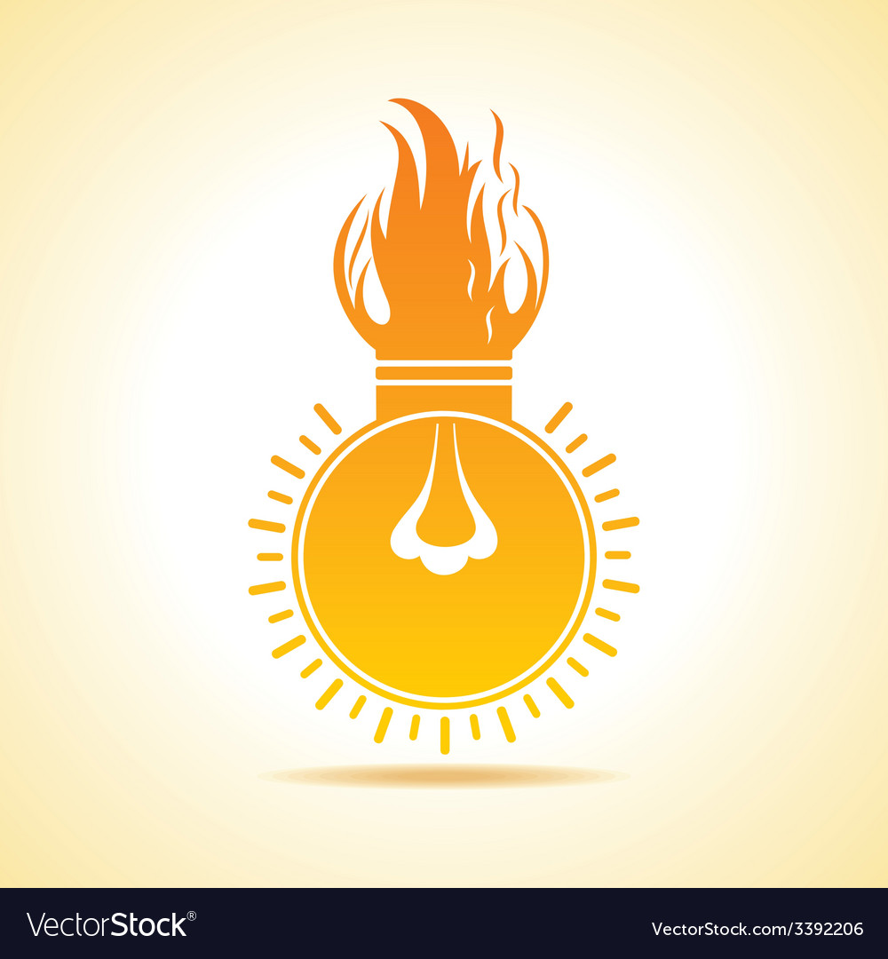 Fire bulb concept vector | Price: 1 Credit (USD $1)